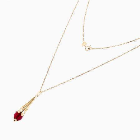 گردنبند طلا 18 عیار زنانه مدل NL0050