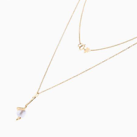 گردنبند طلا 18 عیار زنانه مدل NL0052