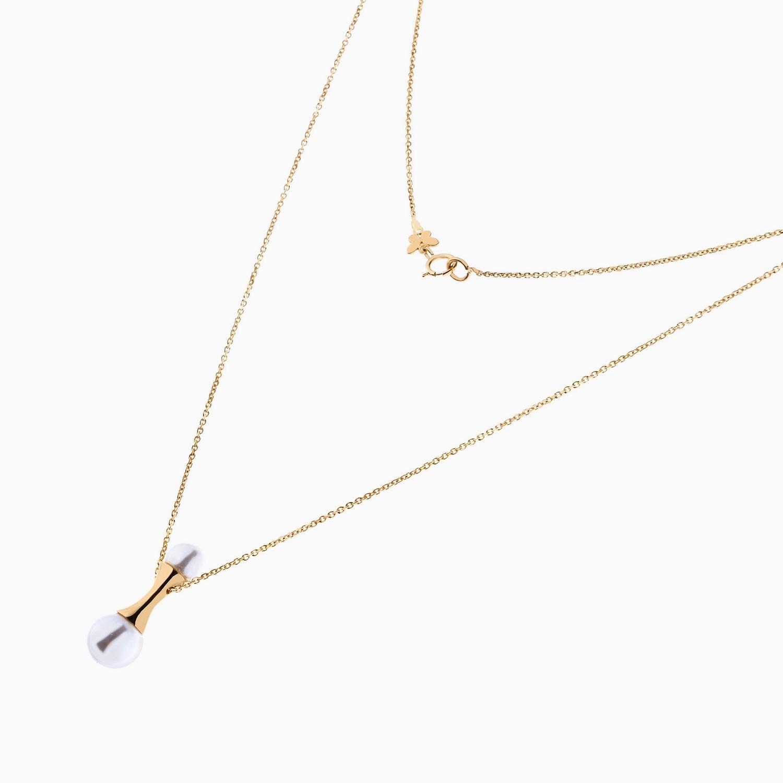 گردنبند طلا 18 عیار زنانه مدل NL0053