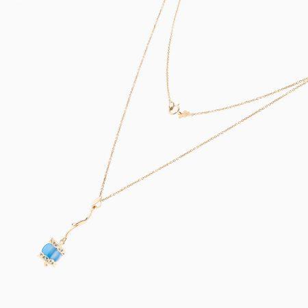 گردنبند طلا 18 عیار زنانه مدل NL0054