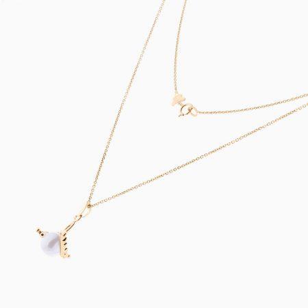 گردنبند طلا 18 عیار زنانه مدل NL0055