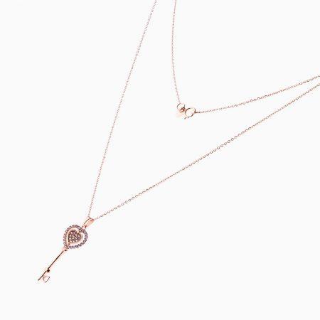 گردنبند طلا 18 عیار زنانه مدل NL0067