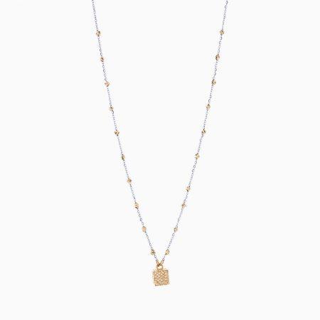 گردنبند طلا 18 عیار زنانه مدل NL0081