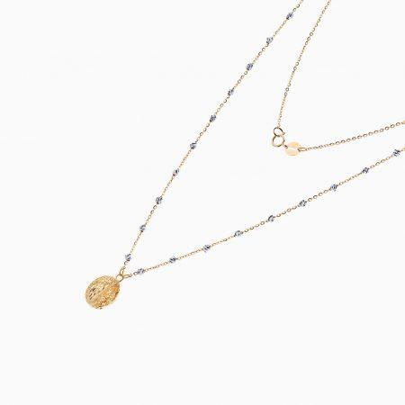 گردنبند طلا 18 عیار زنانه مدل NL0084