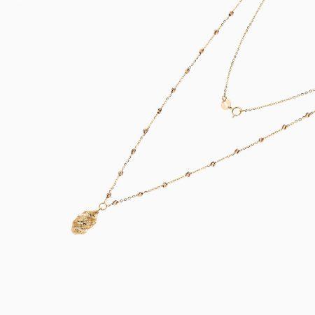 گردنبند طلا 18 عیار زنانه مدل NL0087