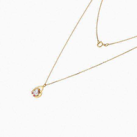 گردنبند طلا 18 عیار بچهگانه NL0093