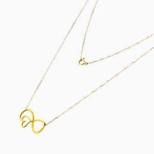 گردنبند طلا 18 عیار زنانه مدل NL0096