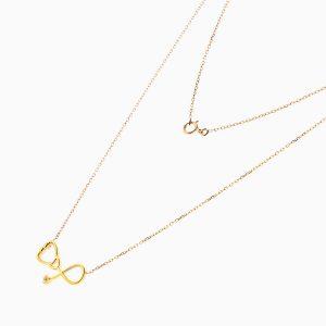 گردنبند طلا 18 عیار زنانه مدل NL0097