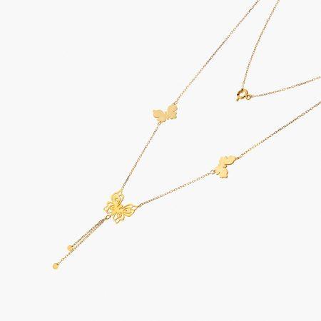 گردنبند طلا 18 عیار زنانه مدل NL0099