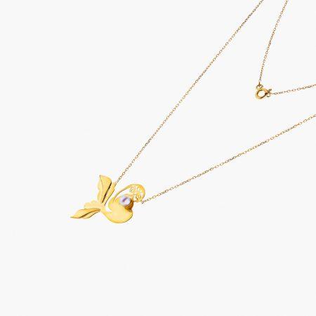 گردنبند طلا 18 عیار زنانه مدل NL0100