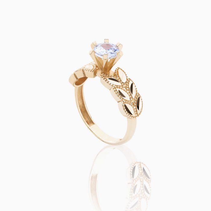 انگشتر طلا 18 عیار زنانه مدل RG0020
