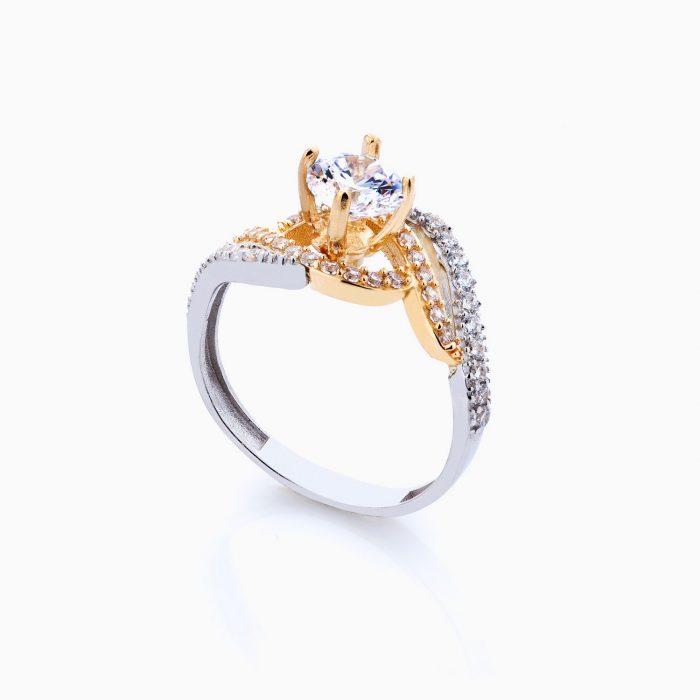 انگشتر طلا 18 عیار زنانه کد RG0082