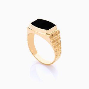 انگشتر طلا 18 عیار مردانه مدل RG0104