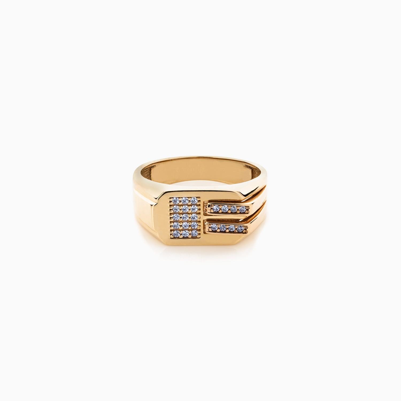 انگشتر طلا 18 عیار مردانه مدل RG0106
