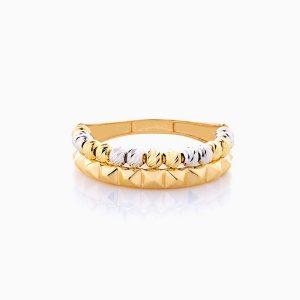 انگشتر طلا 18 عیار زنانه مدل آلبرنادو با رینگ طرح دار کد RG0122