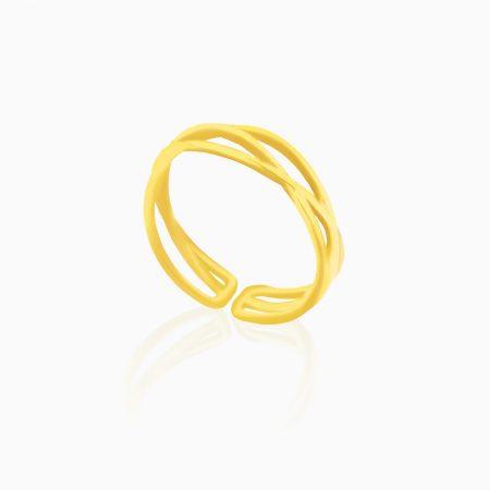 انگشتر طلا 18 عیار زنانه اسپورت مدل بند انگشتی کد RG0140
