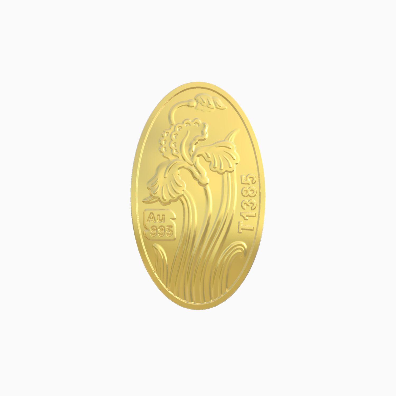شمش طلا 24 عیار 350 سوتی زنبق