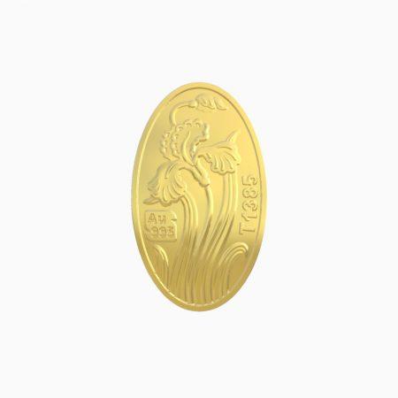 شمش طلا 24 عیار 400 سوتی زنبق