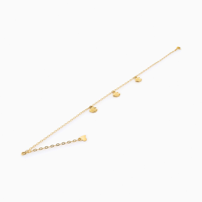 پابند طلا 18 عیار زنانه زنجیری مدل ماهی کد AL0008