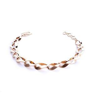دستبند طلا 18 عیار زنانه زنجیری مدل کلاسیک کد BL0020