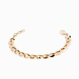 دستبند طلا 18 عیار زنانه زنجیری مدل کلاسیک کد BL0021