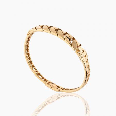 دستبند طلا 18 عیار زنانه النگویی مدل کارتیر کد BL0049