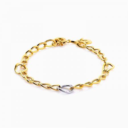 دستبند طلا 18 عیار زنانه زنجیری مدل کلاسیک کد BL0054