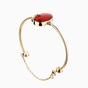 دستبند طلا 18 عیار زنانه با سنگ یاقوت سرخ کد BL0078