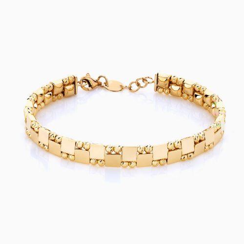 دستبند طلا 18 عیار زنانه مدل آلبرنادو کد BL0079