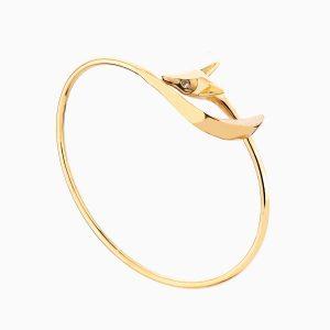 دستبند طلا 18 عیار زنانه فانتزی مدل فاکس کد BL0080