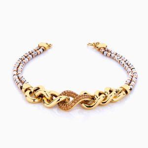دستبند طلا 18 عیار زنانه مدل آلبرنادو کد BL0084
