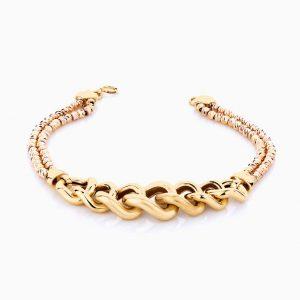 دستبند طلا 18 عیار زنانه مدل آلبرنادو کد BL0085