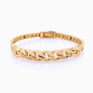دستبند طلا 18 عیار زنانه النگویی کد BL0088