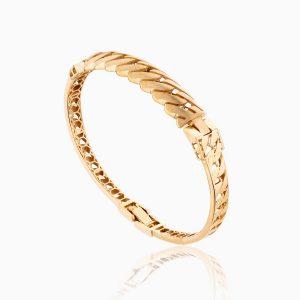 دستبند طلا 18 عیار زنانه النگویی کد BL0089