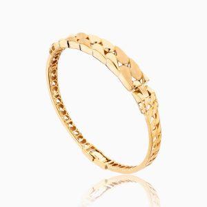 دستبند طلا 18 عیار زنانه النگویی کد BL0090
