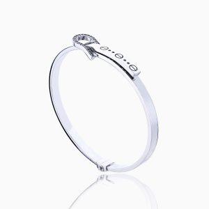 دستبند طلا 18 عیار زنانه النگویی مدل کارتیر کمربندی کد BL0091