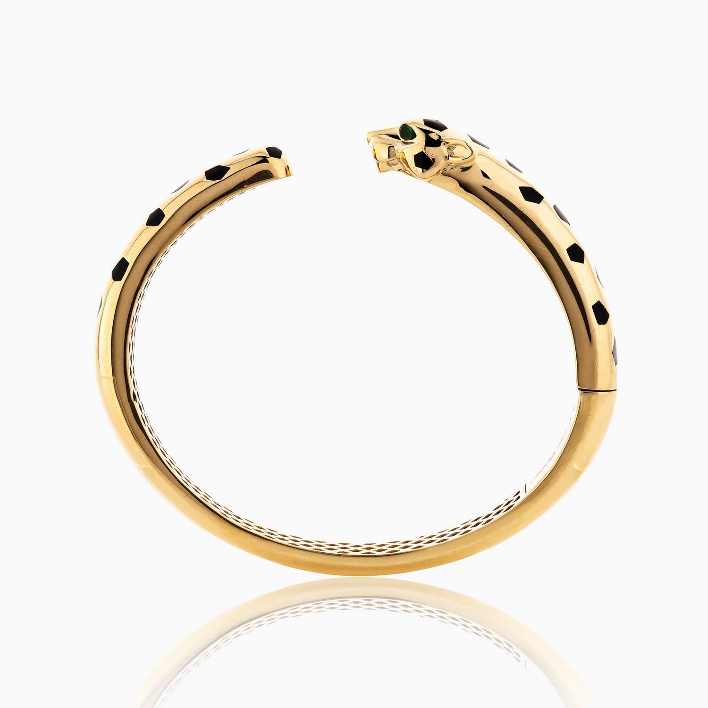 دستبند طلا 18 عیار زنانه اسپورت مدل کارتیر پلنگ کد BL0092
