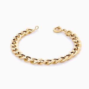دستبند طلا 18 عیار زنانه مدل کارتیر کد BL0106