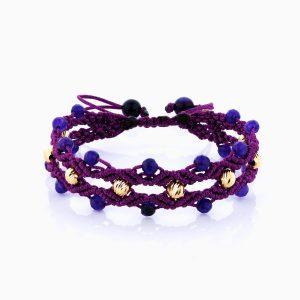 دستبند طلا 18 عیار دخترانه اسپورت مدل آلبرنادو تک رج کد BL0110