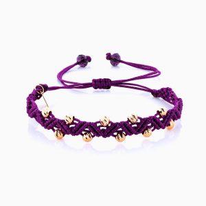 دستبند طلا 18 عیار دخترانه مدل آلبرنادو دورج کد BL0115