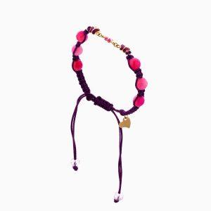 دستبند طلا 18 عیار دخترانه فانتزی با سنگ مرمر مدل پروانه کد BL0117