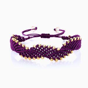 دستبند طلا 18 عیار دخترانه اسپورت مدل آلبرنادو دو رج کد BL0121