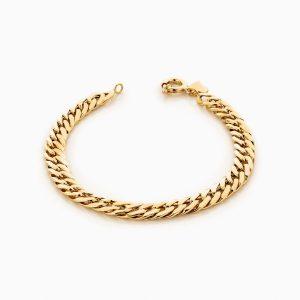 دستبند طلا 18 عیار زنانه ساچمه ای مدل کارتیر کد BL0123
