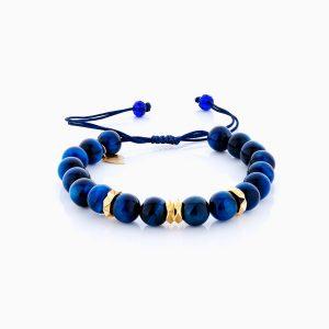 دستبند طلا 18 عیار مردانه اسپورت ساچمه ای مدل گوی و حلقه کد BL0132