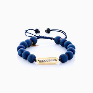 دستبند طلا 18 عیار دخترانه اسپورت ساچمه ای مدل پلاک گوی کد BL0133