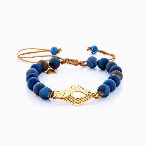 دستبند طلا 18 عیار زنانه ساچمه ای مدل چشم کد BL0134