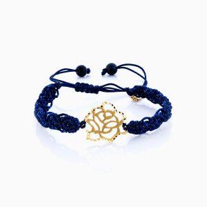 دستبند طلا 18 عیار دخترانه اسپورت مدل گل کد BL0136