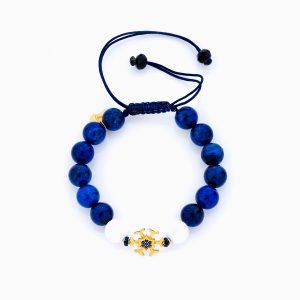 دستبند طلا 18 عیار دخترانه فانتزی ساچمه ای مدل برف کد BL0137