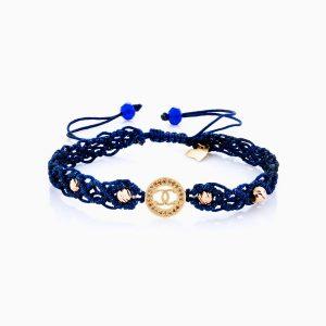 دستبند طلا 18 عیار دخترانه مدل شنل کد BL0138
