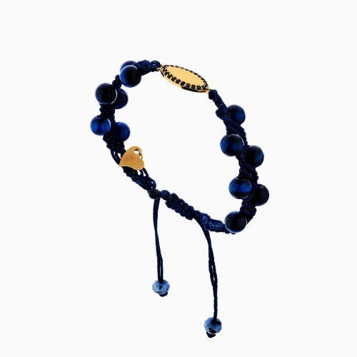 دستبند طلا 18 عیار دخترانه مدل چشم کد BL0141